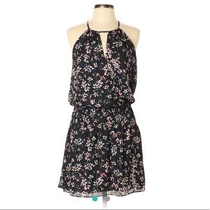 NWT Parker Black Floral Lisse Mini Casual Dress